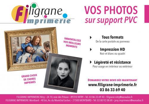 Vos photos sur support PVC