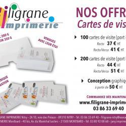 Nos offres - Cartes de visite